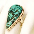 RG176       Turquoise Ring in Sterling Silver, Size 8