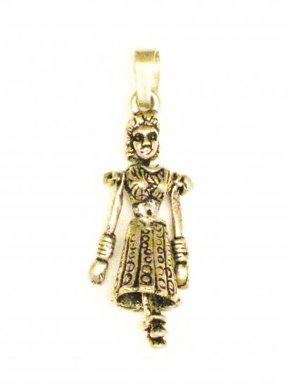 CP004       Dancing Doll Pendant in Sterling Silver