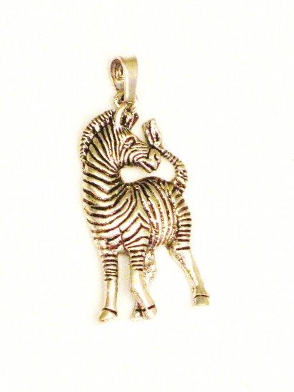 CP007       Zebra Pendant in Sterling Silver