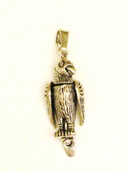 CP012       Perched Eagle Pendant in Sterling Silver