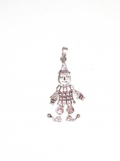 CP016       Joker Pendant in Sterling Silver