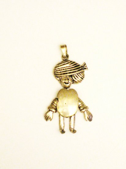 CP018       Tribesman Pendant in Sterling Silver