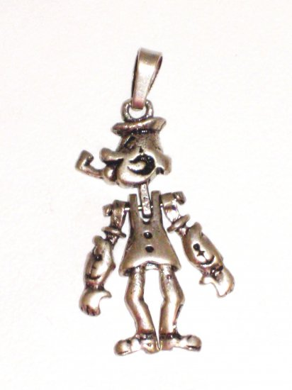 CP029       Cigar Man Pendant in Sterling Silver