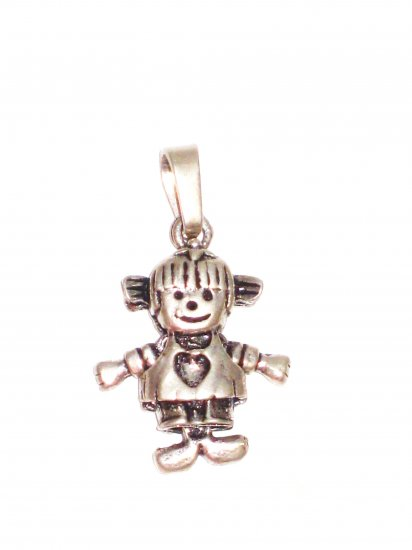 CP030       Heart Doll Pendant in Sterling Silver