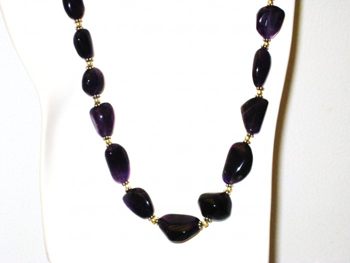 NK014       Amethyst Necklace in Sterling Silver