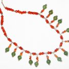 ST470       Mixed Stones  Necklace in Sterling Silver