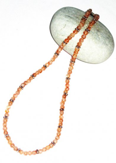 ST504       Mixed Stones  Necklace in Sterling Silver