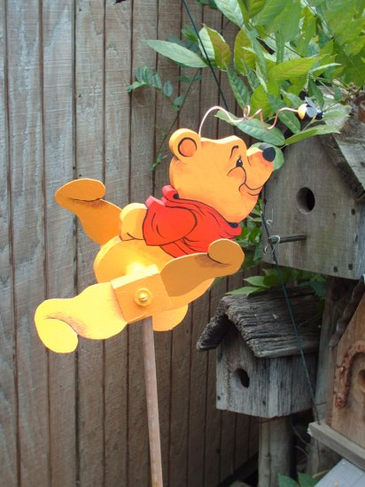 Pooh Bear Whirligig- wind, motion mobile