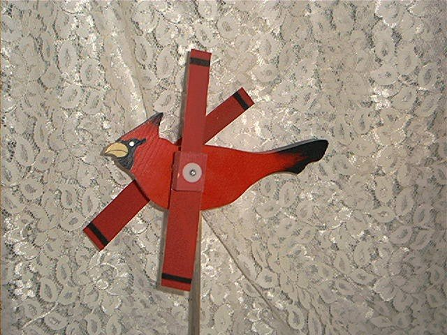 Red Cardinal Whirligig- Wind, mobile, motion