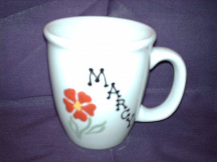 Your Name on Personalized Coffee Mug- FLOWER