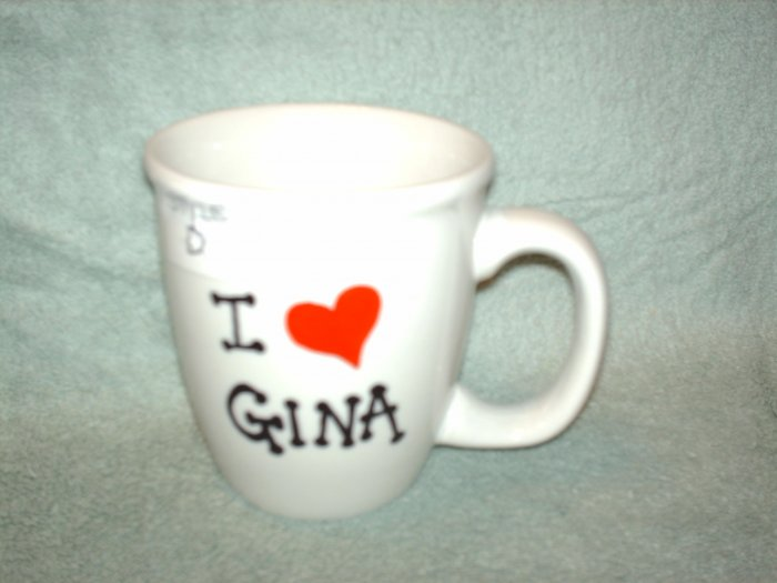 Your Name on Personalized Coffee Mug-I LOVE
