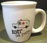Personalized Coffee Mug 12Oz. EMT on DUTY