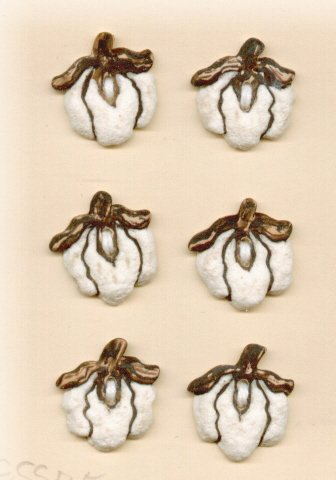 Handmade Ceramic Buttons- TENNESSEE COTTON