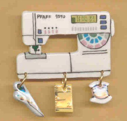 Decorative Sewing Machine Pin- PFAFF 7570