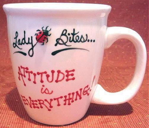 Personalized Coffee Mug 12Oz. ATTITUDE  Ladybug