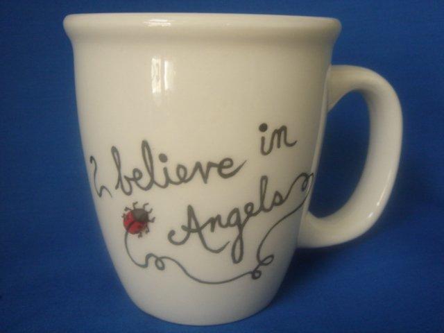 Personalized Coffee Mug 12Oz.   I believe in Angels