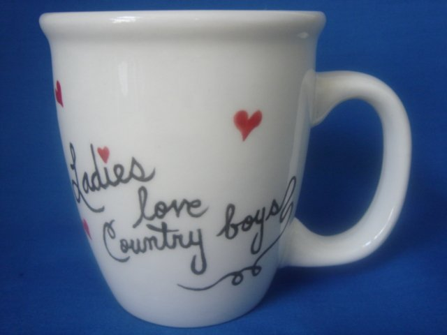 Personalized Coffee Mug 12Oz. LADIES LOVE COUNTRY BOYS