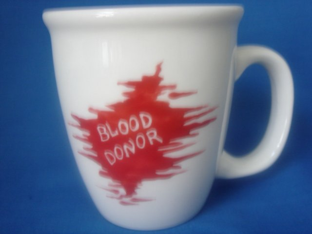 Personalized Coffee Mug 12Oz.  BLOOD DONOR