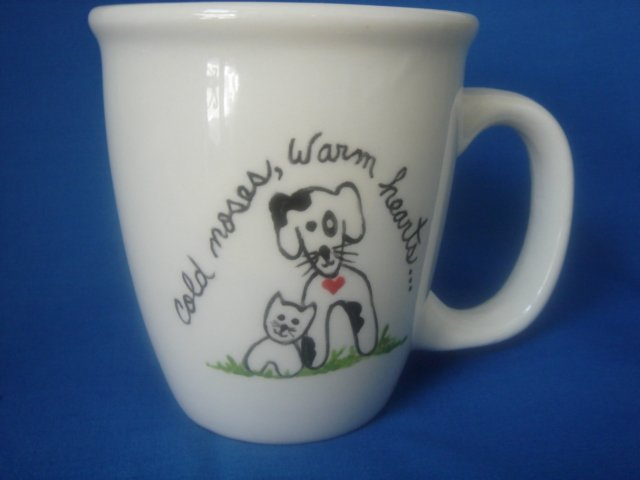 Personalized Coffee Mug 12Oz.   COLD NOSES WARM HEART