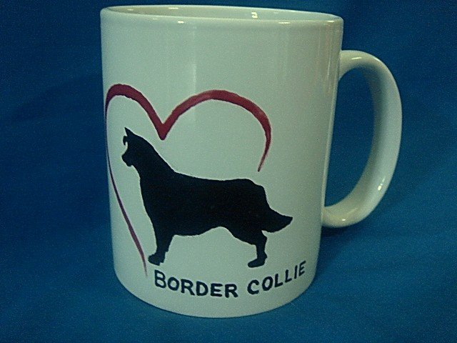 Get your NAME on a PERSONALIZED COFFEE MUG - BORDER COLLIE