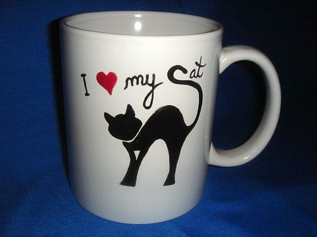 Personalized Coffee Mug 12Oz. I LOVE MY CAT