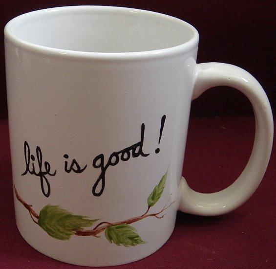 Personalized Coffee Mug 12Oz.  Life is good