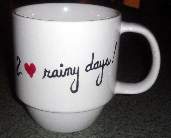Personalized Coffee Mug 12Oz.  I LOVE RAINY DAYS