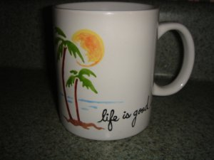 Personalized -  Mug Life is good Palm Trees