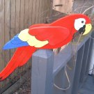 Whirligig   Life size RED PARROT