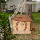 Primitive Handcrafted Birdhouse Old rusty Shovel