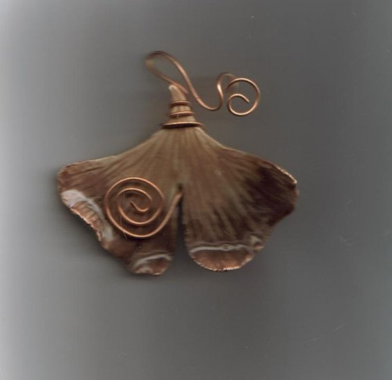 Gingko Leaf Window Charm or Pin
