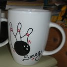 Handpainted Personalized Mug  BOWLING