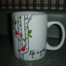 Handpainted Personalized Mug  LIFE IS GOOD CARDINAL