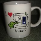 Handpainted Personalized Mug  SEWING THEME