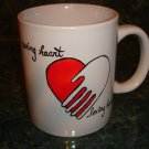 Handpainted Personalized Mug   Caring Heart Loving Hands
