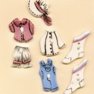 Handcrafted Decorative Ceramic  Buttons Country Clothes