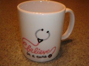 Personalized Ceramic Mug  Nurse Theme BELIEVE
