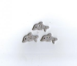 Handcrafted decorative ceramic buttons  Dolphins