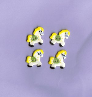 Handcrafted decorative ceramic buttons Sweet Little Ponies