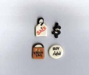 Handcrafted decorative ceramic buttons  Shopping