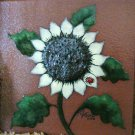 Painting on Terracotta Tile  Sunflower