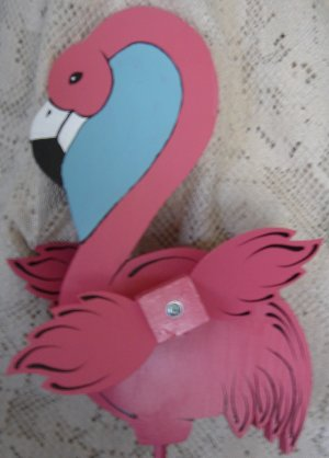 Whirligig Pink Flamingo  Handcrafted