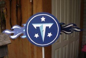 Titans emblem Whirligig, motion, windspinner