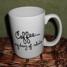 Personalized Ceramic Mug Coffee my drug of choice white, 14 ounces