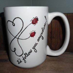 Personalized Ceramic Mug, I'd follow you anywhere,white, 14 ounces
