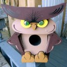 Handcrafted Owl Birdhouse 3 diminution