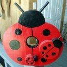 Handcrafted Ladybug Birdhouse