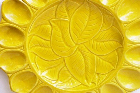 SOLD! Yellow Calif USA S-34 Deviled Egg Plate