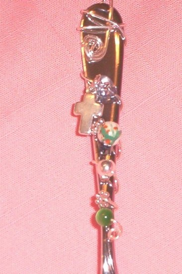 GIFT IDEA! Oneida Silver BEADED GIFT Utensils with Charms!  FREE SHIPPING!