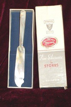 SOLD! Mother of Pearl Souvenir Knife in Stokes Box